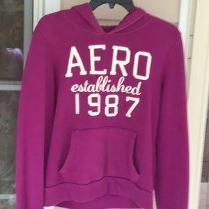 Aerp hoodie Women's size large plum purple